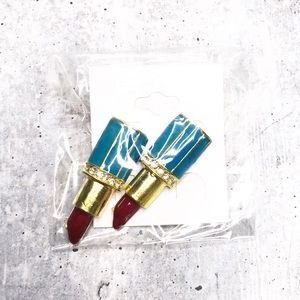 BeJewel Turquoise lipstick Fashion Jewelry Earring